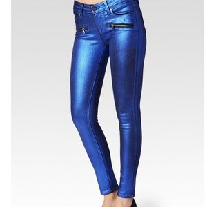 🦋PAIGE Indio Blue Galaxy Skinny Jeans
